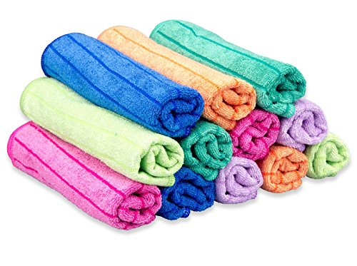 RESPEKT Mikrofaser Tücher plus, 12tlg. Set in 6 Farben, 40 x 40 cm in bunten Farben
