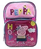 Peppa Pig Pink Backpack School Book Bag Backpack 16' for Kids