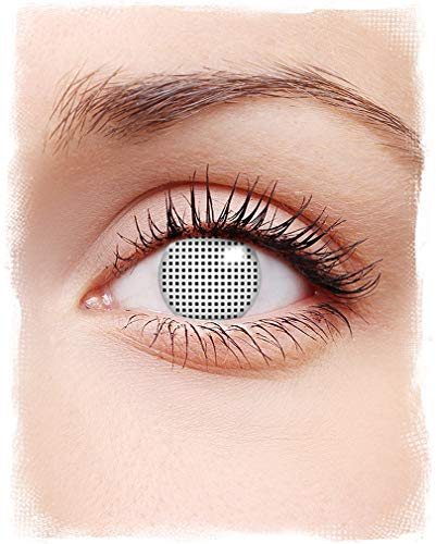 Horror-Shop White Screen Kontaktlinsen