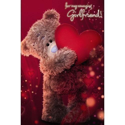 Me To You A93MZ007 3D Lenticular Tatty Teddy Girlfriend Birthday Greetings Card
