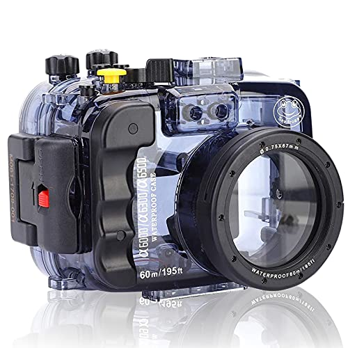 Camera Diving Housing 130FT Underwater Waterproof Housing Case for Sony A6000 A6300 A6400 A6500 (16-50mm)