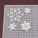 Troqueles de corte de metal con copos de nieve para hacer tarjetas, troqueles de corte de Navidad, 4 unidades