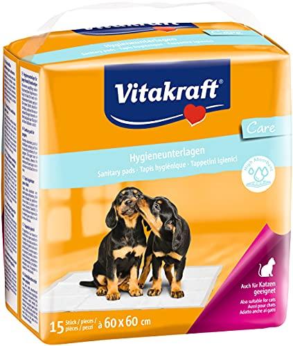 Vitakraft Hygieneunterlagen für Hunde, Trainingsunterlage, Wasserundurchlässig, 60 x 60 cm