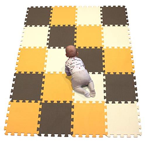 YIMINYUER Puzzlematte für Babys und Kinder, Spielteppich Spielmatte Lernteppich Kinderspielteppich Schaumstoffmatte Matte bunt Orange Braun Beige R02R06R10G301020