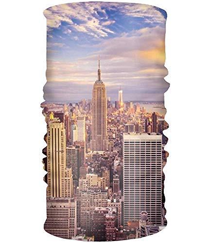 Voxpkrs Neck Headwrap Headwear, Neck Gaiter, Head Wrap, Headband Men Women - New York City Buildings