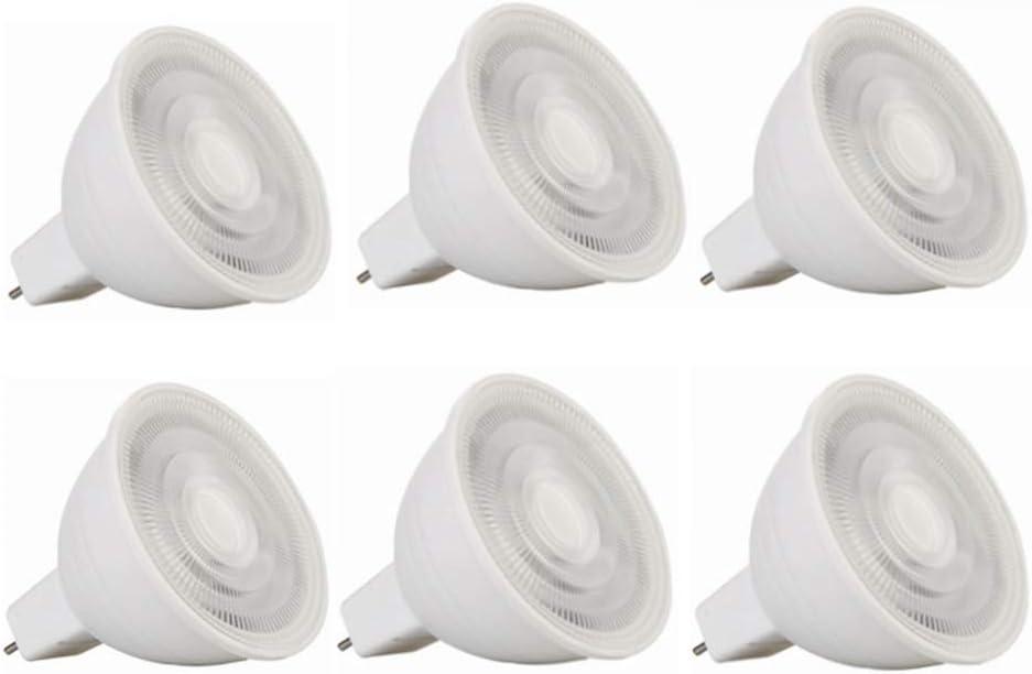 Bulbos de maíz LED MR16 GU5.3 LED Bombillas 24V, 5W (50W equivalente) del bulbo del proyector, de 24 voltios, GU5.3 Bi-Pin Base, 400-450Lumen no regulable bombillas 6-Pack Iluminante Lámpara de maíz s