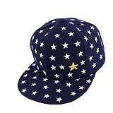 aiyvi 2-5 Jahre Baby Kinder Mütze Hip Hop Cap Baseballmütze Star Muster Atmungsaktive Hut, für Junge Mädchen