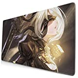 111111 Extended Gaming Mouse Pad 2B Nier 3 Keyboard Mousepad Cute Large Mouse Mat for Gaming Extra Thick Nonslip Rubber Base