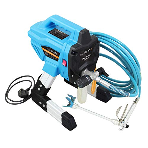 Maxblast Airless Paint Sprayer For Wall & Ceiling, Wood & Metal Spray Gun Commercial Electric Handheld Painting System Decorating Interior & Exterior Wall Kit 650W, 200Bar