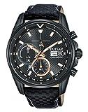 Seiko UK Limited - EU Pulsar Solar M Sport - Reloj cronógrafo con Correa de Piel PZ6033X1