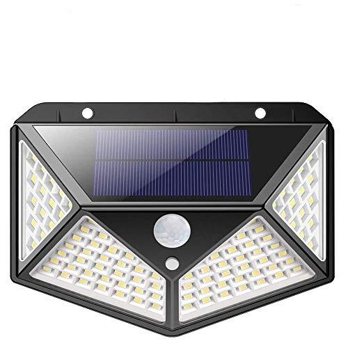 Solarleuchte für Außen,[Erweiterte Version ] kilponen 100 LED Solarlampen Außen mit Bewegungsmelder [2200mAh] Superhelle Solarlicht 270°Solar Beleuchtung Wasserdichte 3 Modi für Garten