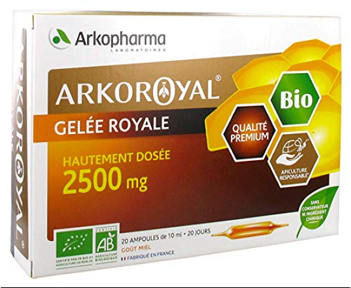 Arkopharma Arko Royal Gelée Royale 2500 mg ecológico, 20 bombillas