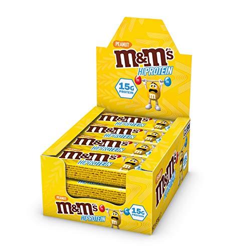 M&M'S HI-PROTEIN BAR PEANUT - 12 x 51g Bars