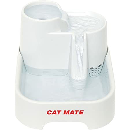 Cat Mate Genuine Pet Fountain 3-Level Fountain, Polymer-Carbon Filter, Super-Quiet Isolated Pump System
