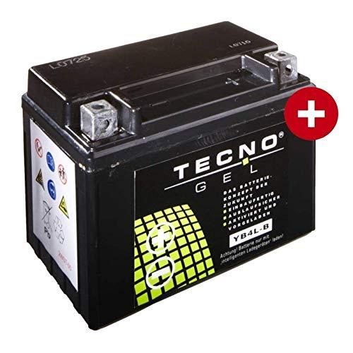 YB4L-B TECNO GEL-Batterie für Rally 50 AC Baujahr 1995-2004