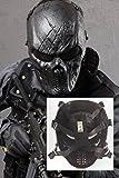 China M06 - Máscara de protección para Cosplay/Paintball Estilo Hockey, diseño con Rejilla metálica en la Zona de los Ojos, Color Negro