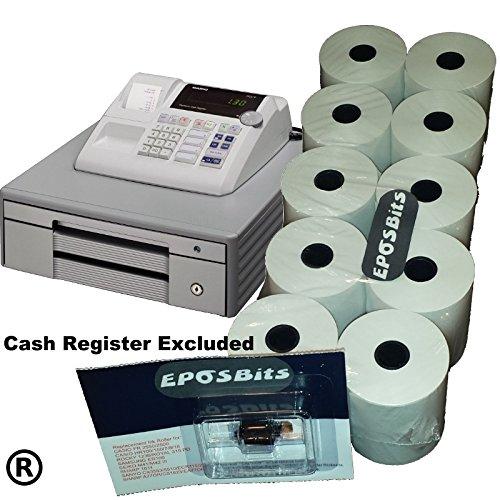eposbits® Pack de accesorios de marca * * * * Para Casio grande Draw 130 CR 130 CR caja registradora (10 rollos + 1 cartucho de): Amazon.es: Oficina y papelería
