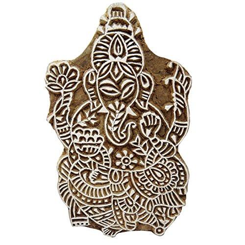 Knitwit Lord Ganesha Design Holz Block/Stempel Spiritual Textildruck auf Stoff
