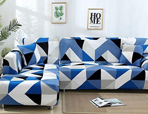 SLOUD Sofá seccional en Forma de L, Funda de sofá de 2 Piezas, Funda elástica para sofá en Forma de L, Protector de sofá seccional elástico-D-En Forma de l 2+2 plazas