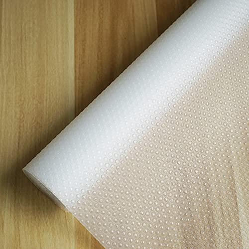 Accevo schubladenmatte [45x600cm] Eva antirutschmatte schubladen, Transparent, Wasserdicht, schmutzabweisend, leicht zu schneiden, Geeignet für Küche, Schuhschrank, Kühlschrank usw