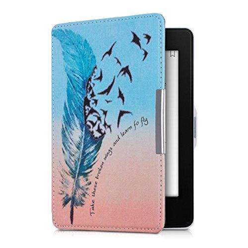 kwmobile Hülle kompatibel mit Amazon Kindle Paperwhite - Kunstleder eReader Schutzhülle (für Modelle bis 2017) - Learn to Fly Blau Schwarz Rot