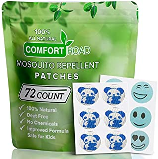 Mosquito Repellent Patch 72 Count Keeps Insects and Bugs Far Away, Simply Apply to Clothes, Adult, Kid-Friendly, Convenient for Travel, Outdoor and Camping