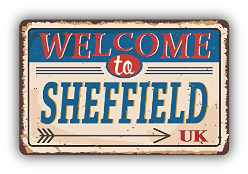 Sheffield City United Kingdom Retro Vintage Emblem - Self-Adhesive Sticker Car Window Bumper Vinyl Decal Hochwertiger Aufkleber