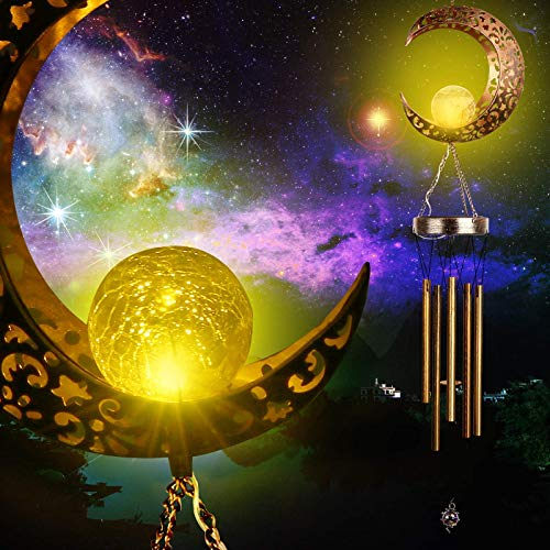 Banbu Solar Wind Chimes for Outside Moon WindChimes Outdoor Clearance