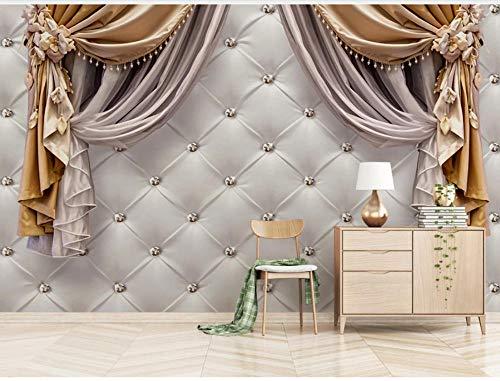 Aymsm Benutzerdefinierte 3D-Wandtapete Home Decor, europäische Vorhänge