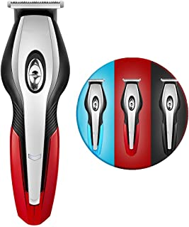 Multifunction USB Rechargeable Electric Shaver Electric Clippers Razors Face Care Men Beard Trimmer Machine Suit,Red