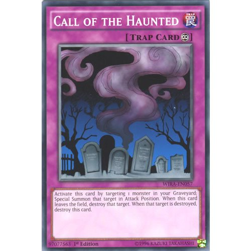 YuGiOh : WIRA-EN057 1st Ed Call of the Haunted Common Card - ( Wing Raiders ) by Deckboosters