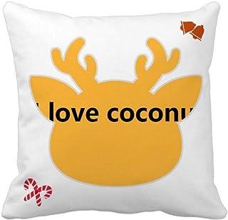 OFFbb-USA Love Seaside Coconut Juice - Funda cuadrada para almohada