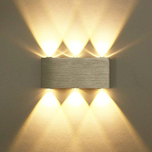 Unimall Aplique de Pared LED Moderna Lámpara Interior Iluminacion en Hogar para 6W Luz (Blanco Cálido)
