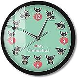 Orologio da Parete a Controllo vocale con Illuminazione a LED Simpatico Orologio Chi-Chi Cartoon Chihuahua Dog Night Light Gift 12 Pollici
