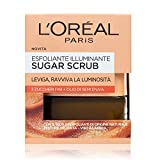 L'Oréal Paris Sugar Scrub Esfoliante Illuminante Viso & Labbra con Cristalli Fini di Zucchero +...