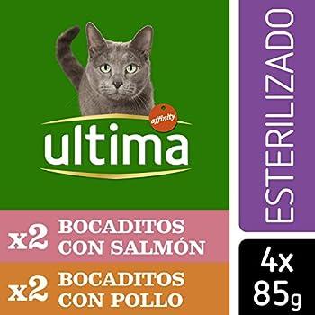 Ultima Nourriture Humide pour Chat Stérilisé 10 packs de 4x85gr