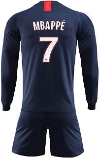 ZAIYI-Jersey Football Long-Sleeve Suit Soccer Jersey Set Soccer T-Shirt for Football Sports Fans Jersey for Men & Kylian Mbappé 7