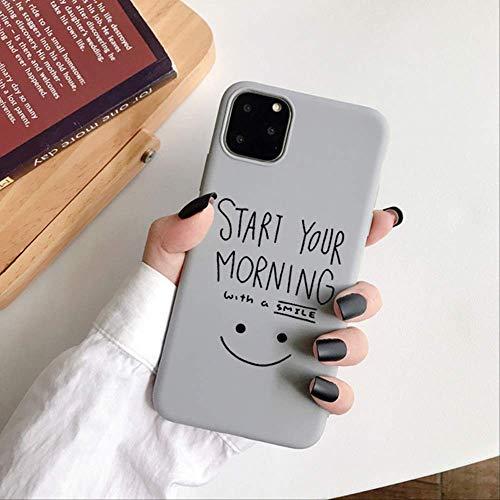 Lovely Smile Face Fundas de Silicona Suave para iPhone 12 Mini XR X XS 11 Pro MAX 8 7 Plus 6 6S SE 2020 Funda de teléfono anticaída Coque para iPhone 11Pro MAX 14
