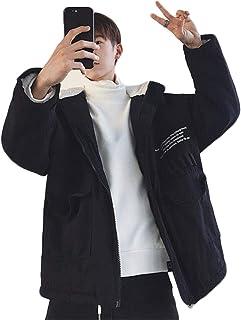 [ディーハウ]カジュアル 長袖 裏起毛 防寒 秋冬メンズ ジャケット アウター スカジャンジャケット スポーツ 厚手 ジャンパー 無地 防風 ビジネス ファッション 大きいサイズ おしゃれ 無地 スポーツ 通学 通勤