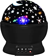 ATOPDREAM Star Night Lights for Kids, Star Night Light Projector for Kids Toys for 2-10 Year Old Boys Christmas Birthday Gifts Age 2-10 Stocking Stuffers Stocking Fillers Black TSUKXK06