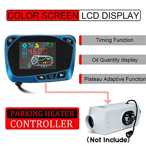 12V/24V LCD Switch Monitor Air Parking Heater Accessoires Blauw Duurzaam