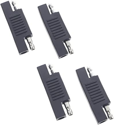Dunhil Pack of 4 Solar SAE Polarity Reverse Adapter Connectors for Quick Disconnect Extension Cable, Solar Panel Battery Power Charger and Maintainer