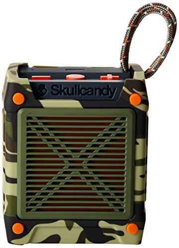 Skullcandy Shrapnel Robuster Wireless Bluetooth Lautsprecher Tragbar Aufladbar Spritzwassergeschützt Stoßfest - Camo/Olive/Slate