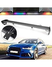 Topteng Alerón para coche, ajustable, universal, alerón trasero con luz LED para escotilla