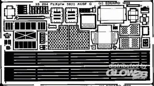Eduard Accessories 35204 Modellbauzubehör PzKpfw 38(t) AUSF. G Detailbausatz