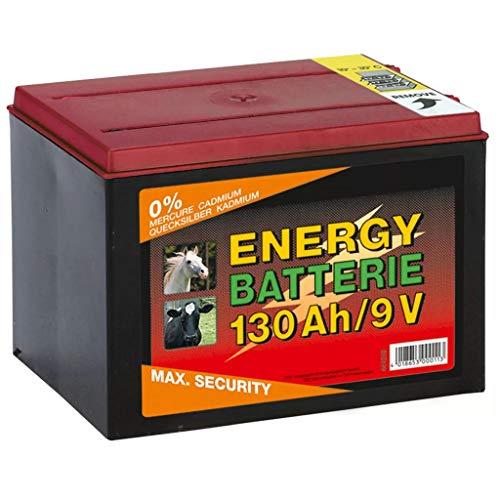 Kerbl 9V Zink - Kohle Batterie für Weidezaungeräte, Trockenbatterie, 130 Ah