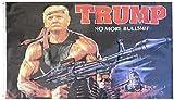 Trade Winds Trump Rambo Bazooka No More BS Bullshit Flag 3x5 3'x5' Premium Quality Fade Resistant Heavy Duty Polyester Flag