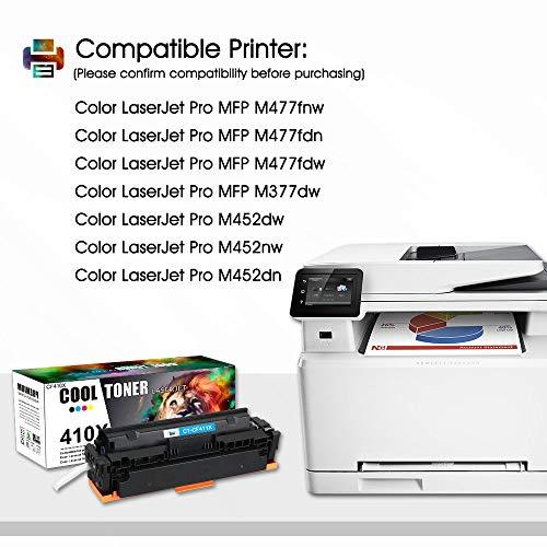 Cool Toner Compatible Toner Cartridge Replacement for HP 410X CF410X CF411X CF412X CF413X 410A CF410A M477FDW for HP Laserjet Pro MFP M477fdw M477fnw M477fdn Pro M452dn M452dw M452nw Toner Ink Printer Photo #6