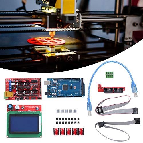 12864 LCD controlador de motor paso a paso con disipador de calor Kit de impresora 3D para Mega 2560 para tarjeta de memoria para reprap