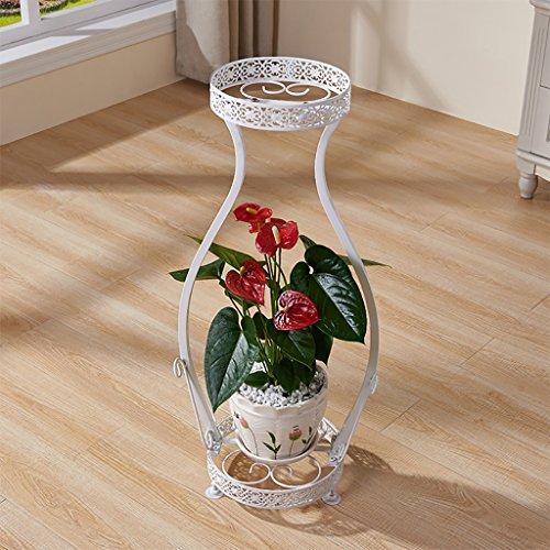 Cdbl étagère de Rangement Vase Forme Fer Cadre Fleur présentoir Design pour Vos Herbes, Fleurs, Plantes intérieur extérieur Salon 22 * 25 * 78cm Support en Bois Massif